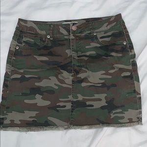 Forever 21 Army Jean Skirt